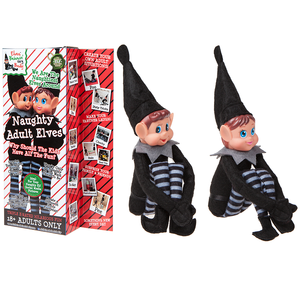 12 Quot Pack Of 2 Sitting Black Adult Elf Girl Amp Boy Christmas