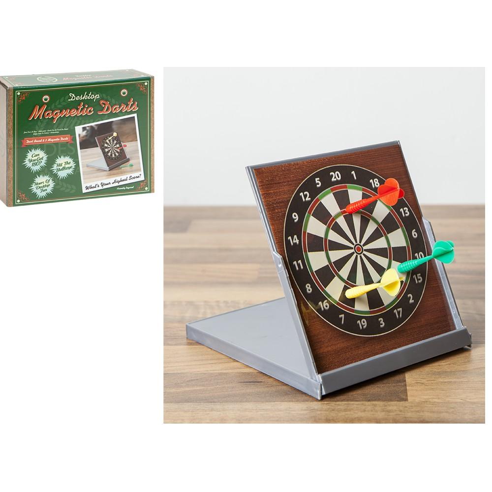 Bon Sentinel Magnetic Desktop Dart Board Game Gift Stocking Filler Retro Office  Home Desk