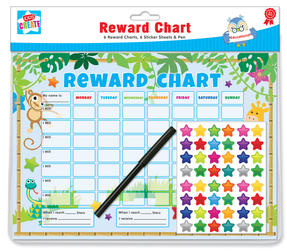 Sentinel Weekly Chore Board Reward Chart Educational Revision Homework Childrens Stickers