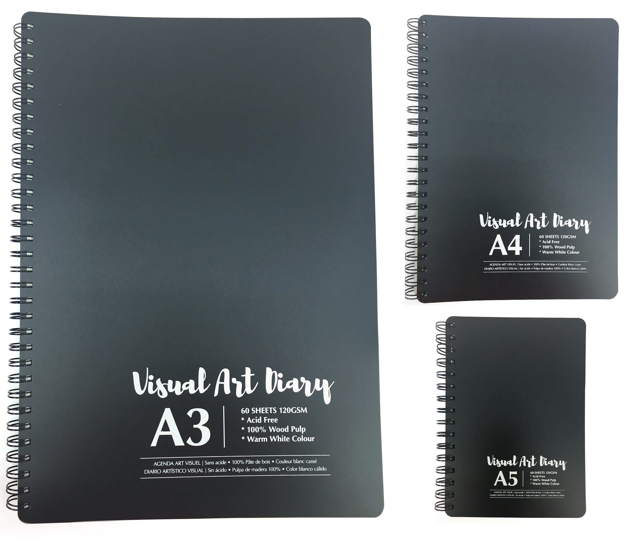 A5 Sketch Pad White Drawing Artist Paper on Spiral Book 100 pages 50 sheets