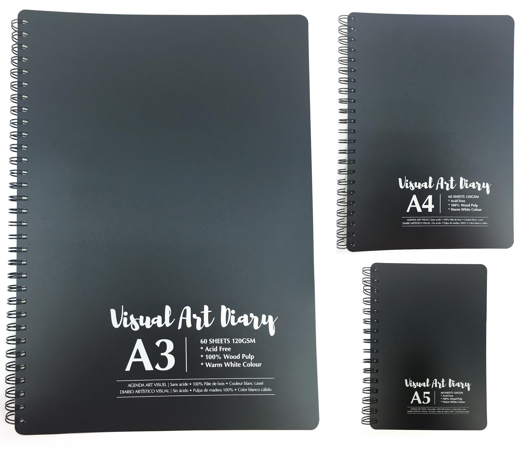 Details About Spiral Professional 120gsm A3 A4 A5 Art 60sheet Artist Draw Cartridge Sketch Pad