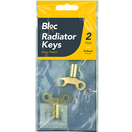 2 x 5mm Brass Radiator Keys Central Heating Pipes Plumbing Valve ...