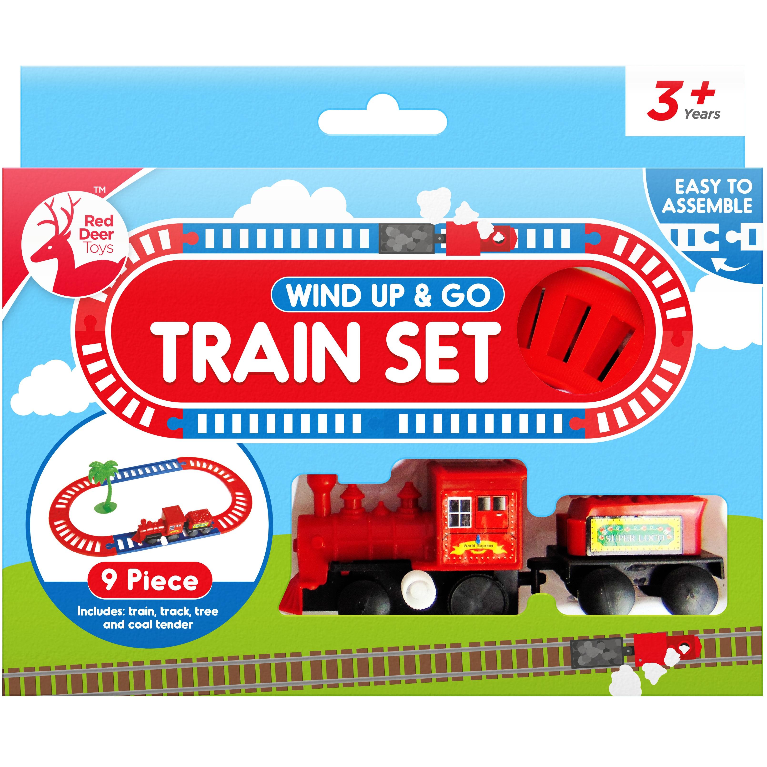 TRAIN TRACK SET WIND UP Toy Kids Childrens Gift Railways Christmas Xmas