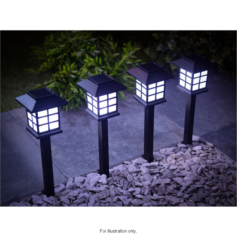 Sentinel 12 x garden post solar power carriage light led outdoor lighting black ornament