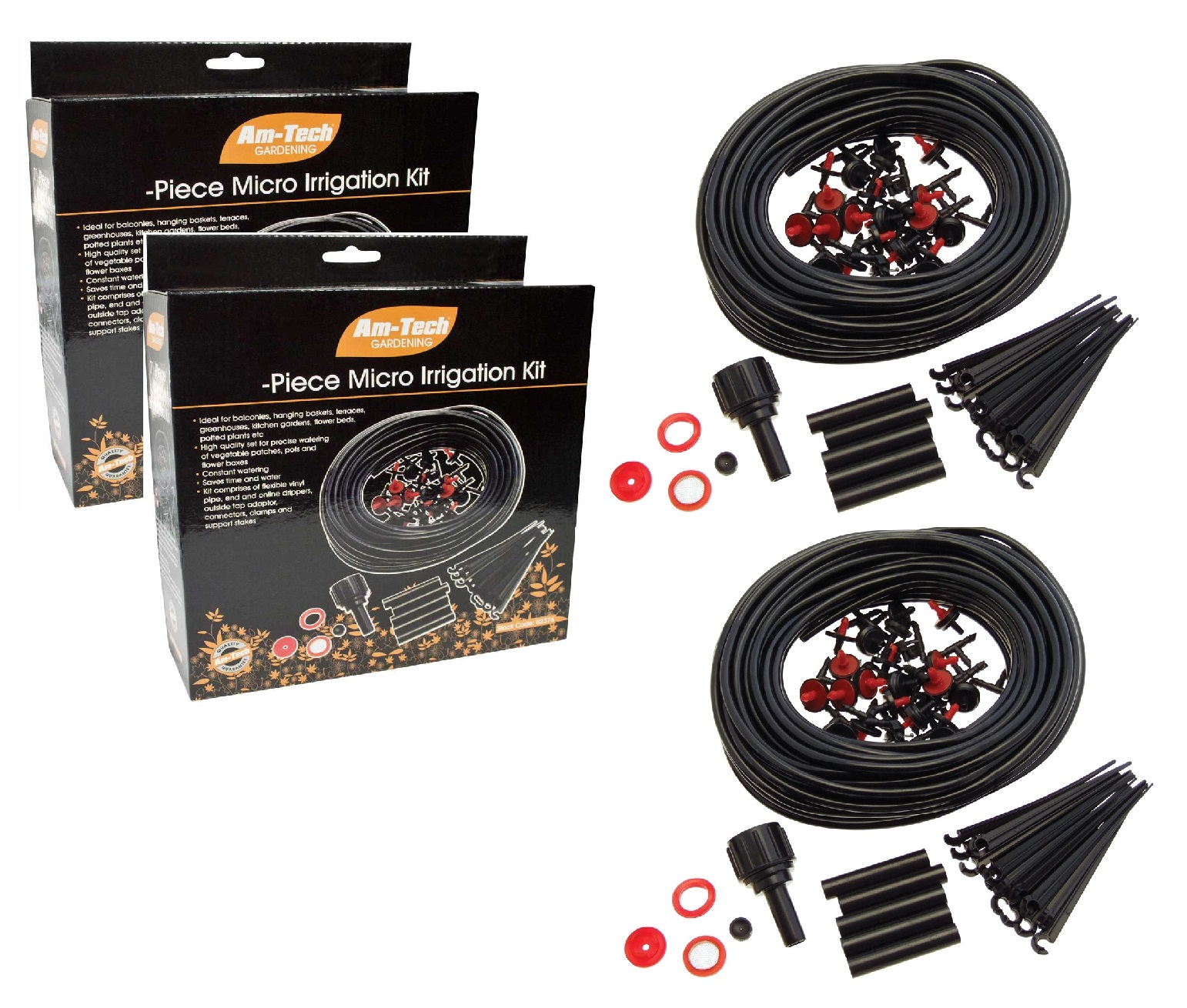 Details about Amtech 46 Metre 142pc Micro Plant Irrigation Kit Drip  Watering Greenhouse System