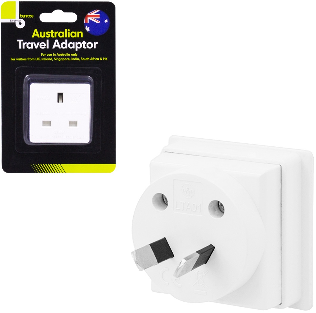 Uk To Australia Power Adaptor Plug Converter Travel Adapter Pin Australian Sentinel Mains Convert