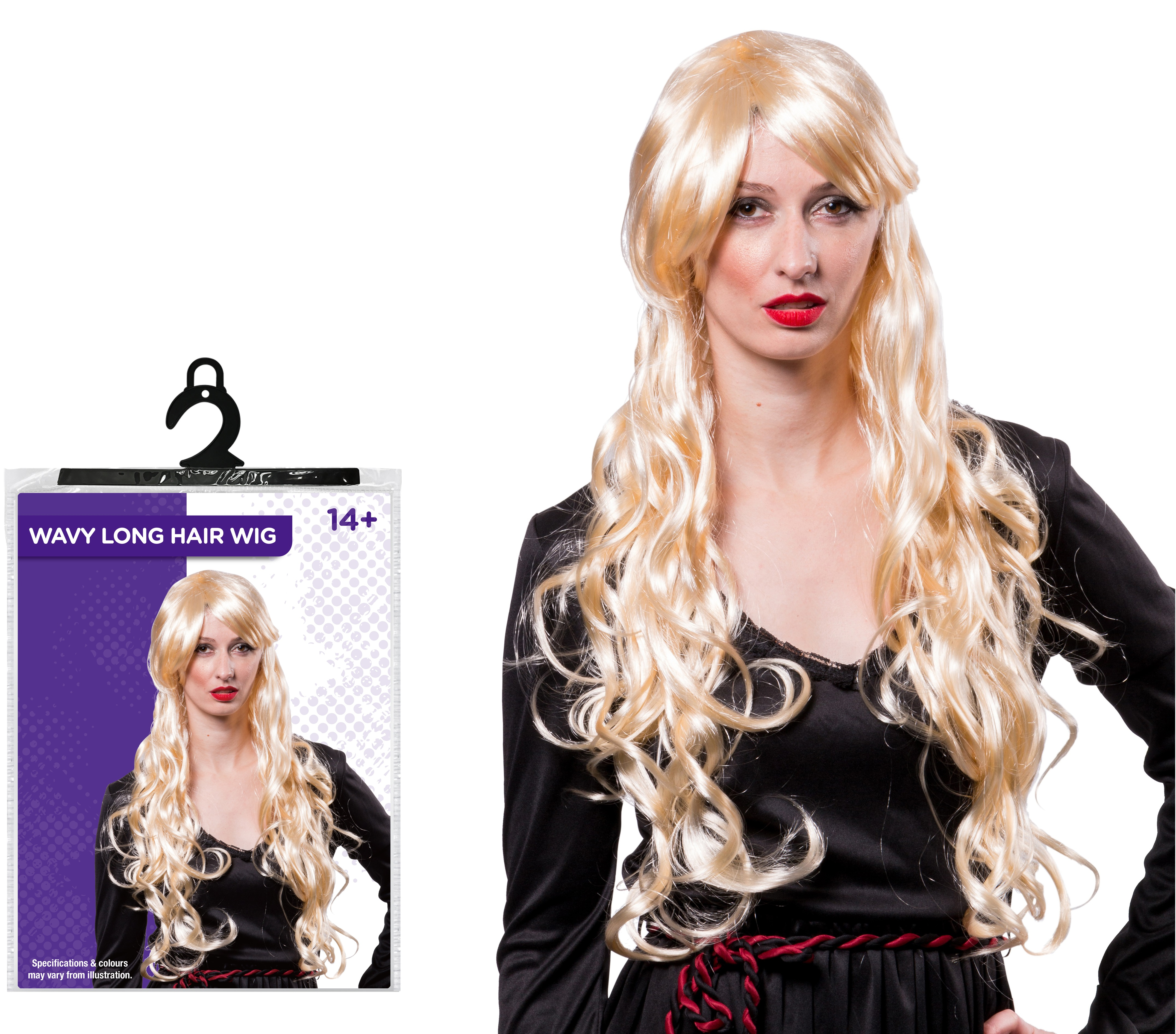 Details about Halloween Ladies Fancy Dress Party Costume Wavy Long Blonde  Hair Wig Accessory