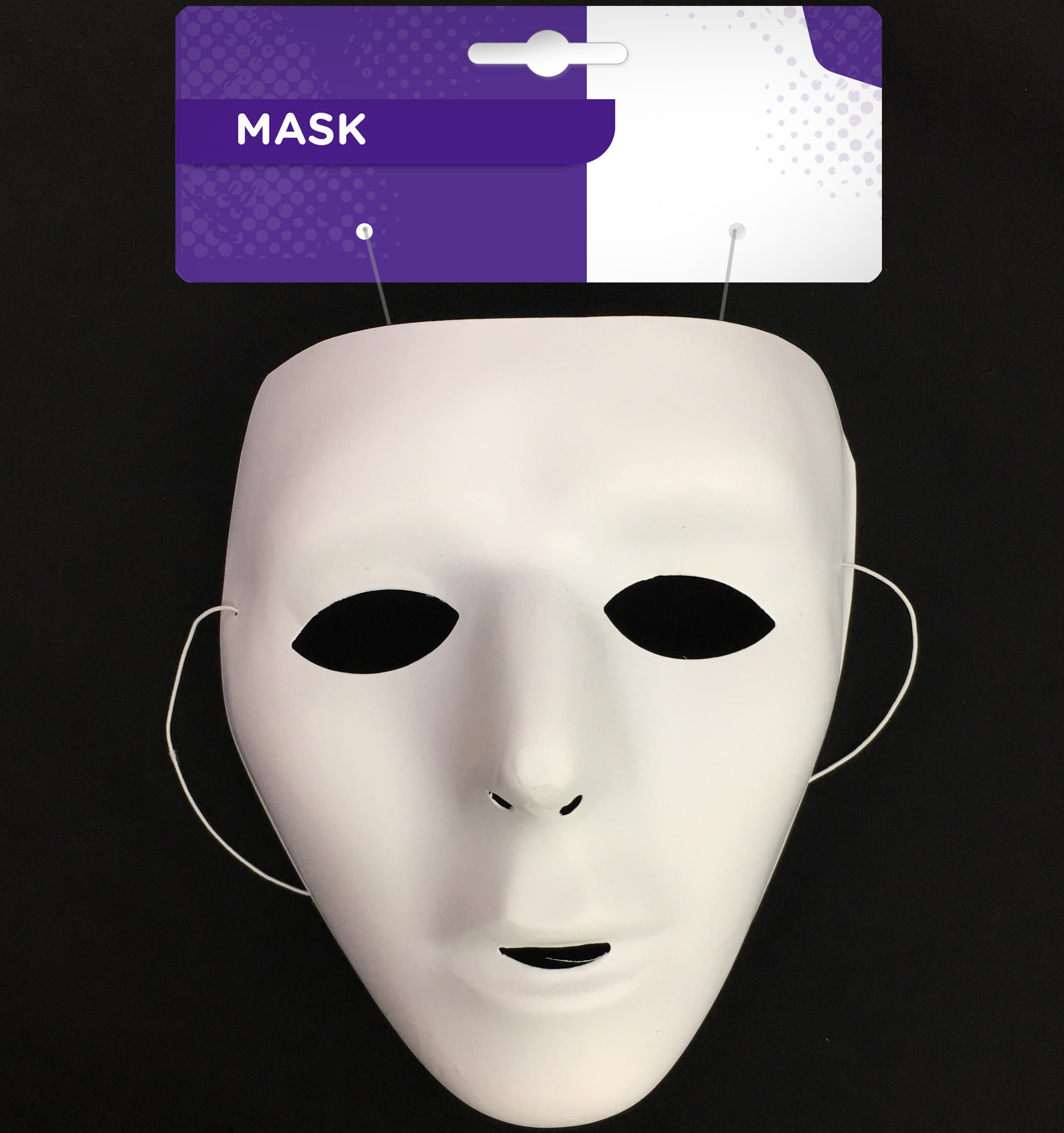 halloween masquerade plain white blister mask fancy dress costume