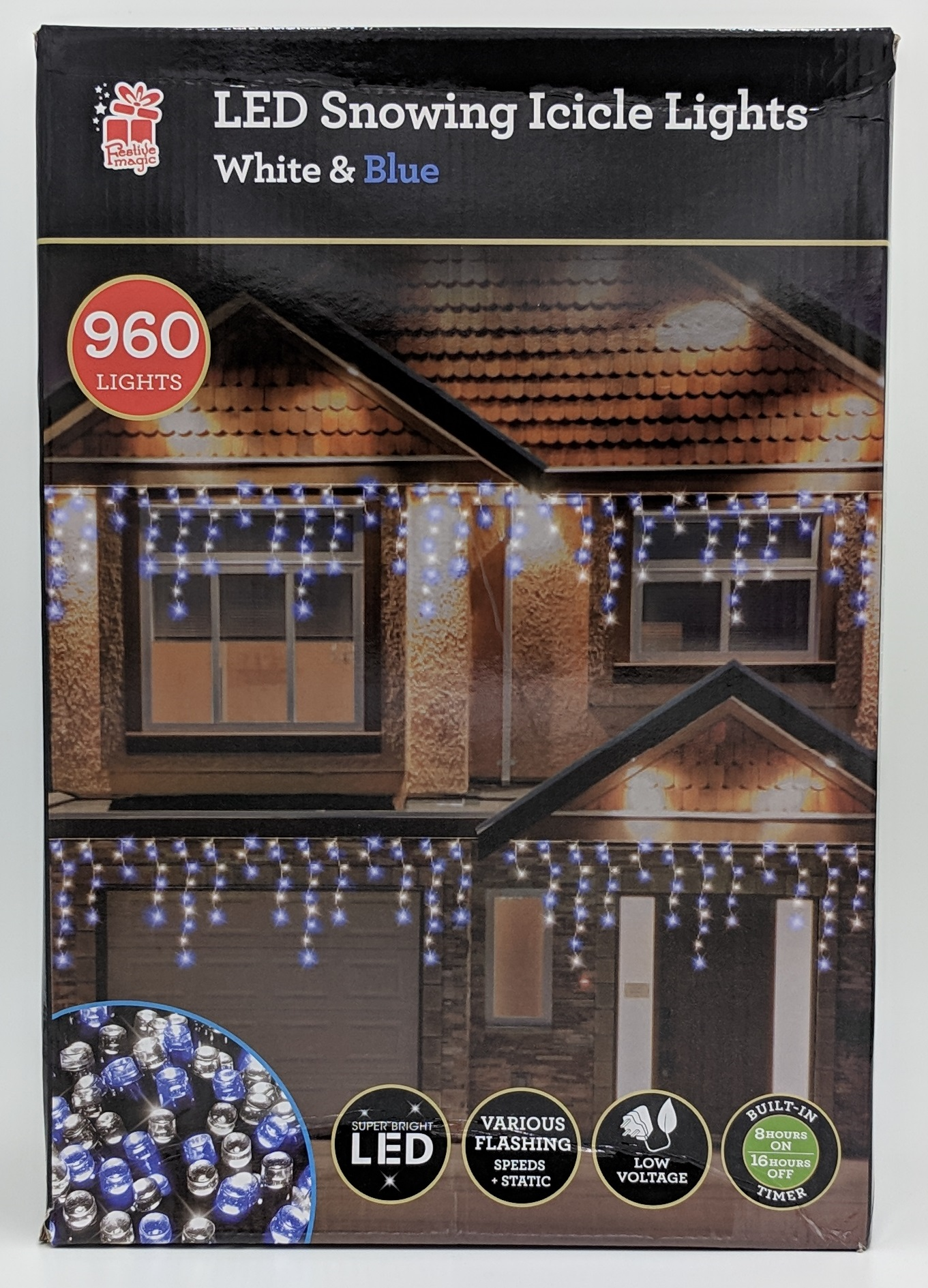 Christmas Hanging Outdoor Led Snowing Icicle Fairy Lights