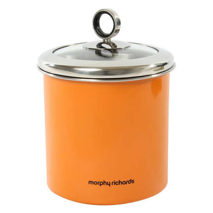 orange storage jars kitchen morphy richards 1 7 litre stainless steel large kitchen 3766