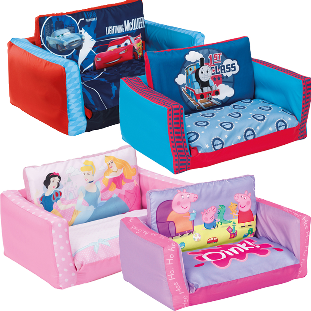 Flip Out Sofa Bed Toddler Kids Pink 2 Seater