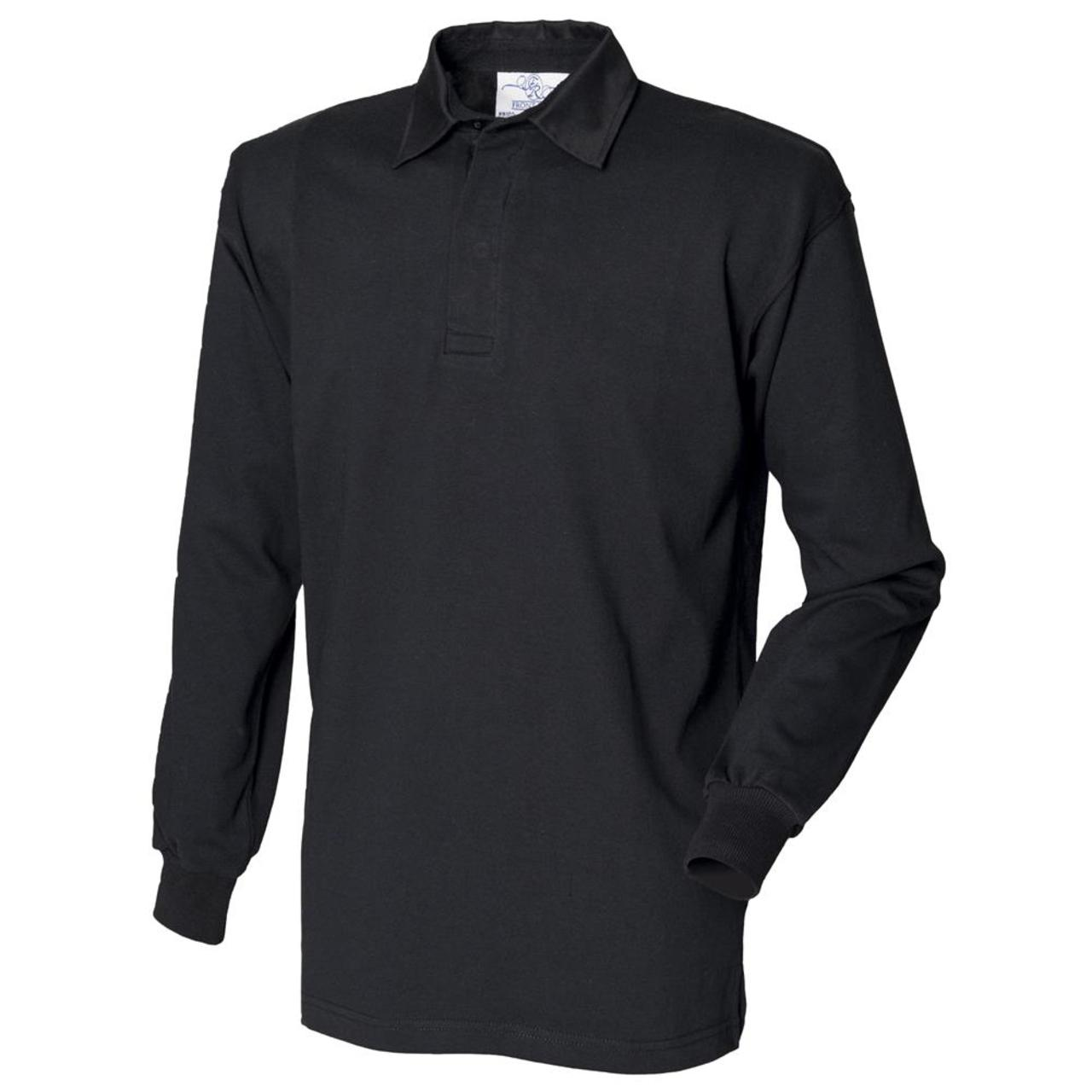 Front row long sleeve classic rugby shirt mens casual for Mens casual collared shirts