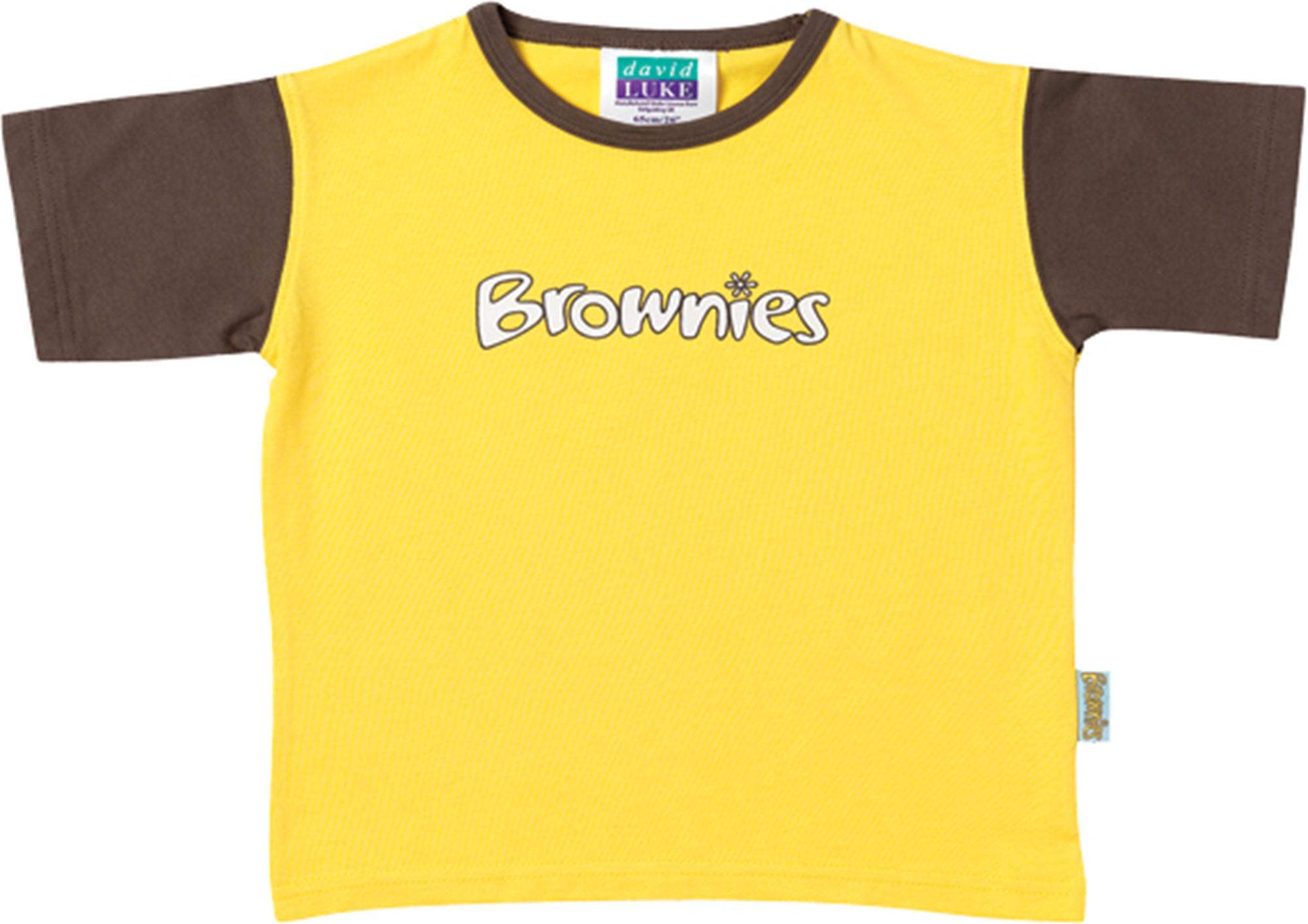 Official brownies girls school uniform short sleeve t for Short sleeve school shirts