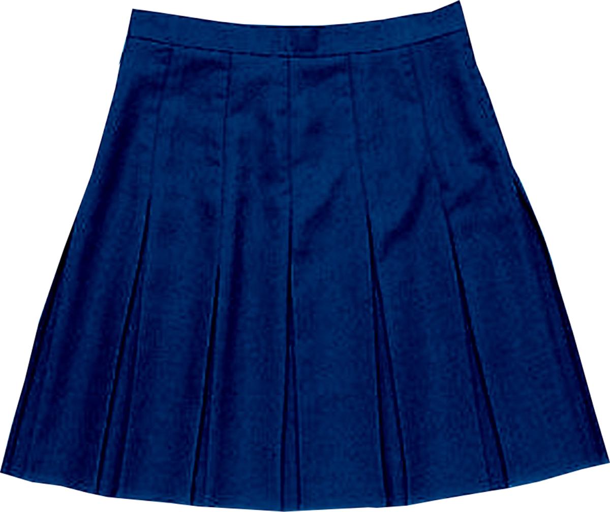 school uniform girls stitched down box pleat skirt only