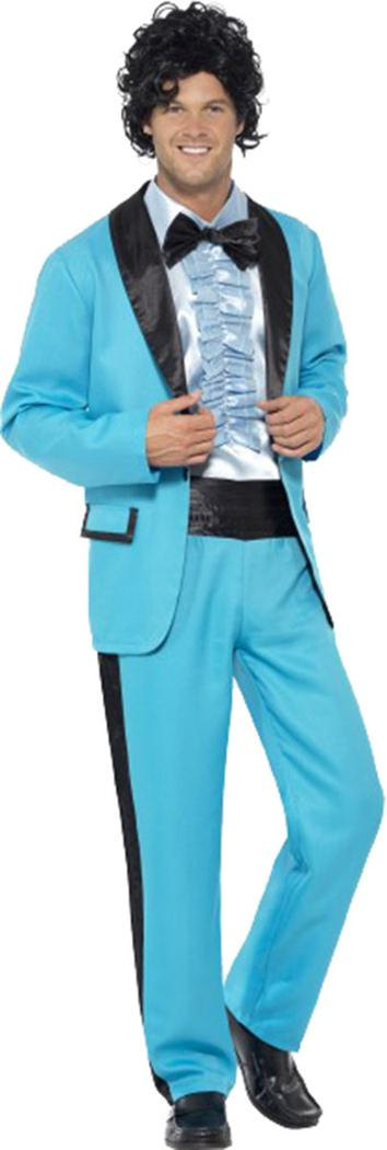 Mens Fancy Dress Disco Party Outfit Tuxedo Suit 1980\'s Prom King ...