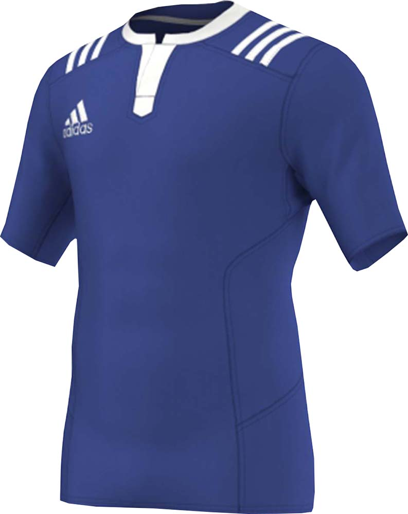 d544419f5bf7 Adidas 3S Fitted Men s 3 Stripes Execution Classic Rugby Teamwear ...