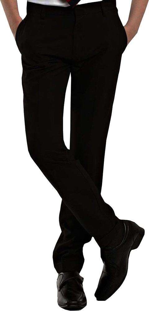 Boys Slim Fit School Trousers Mens Formal Office