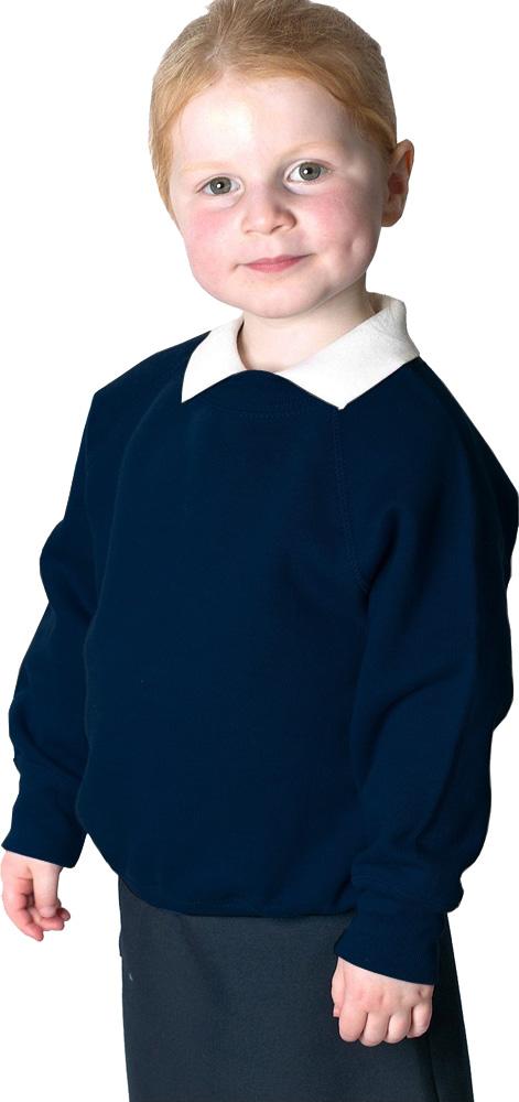 Kids Boys Girls Womens Mens Childrens School Work Crew Neck Sweatshirt Jumper