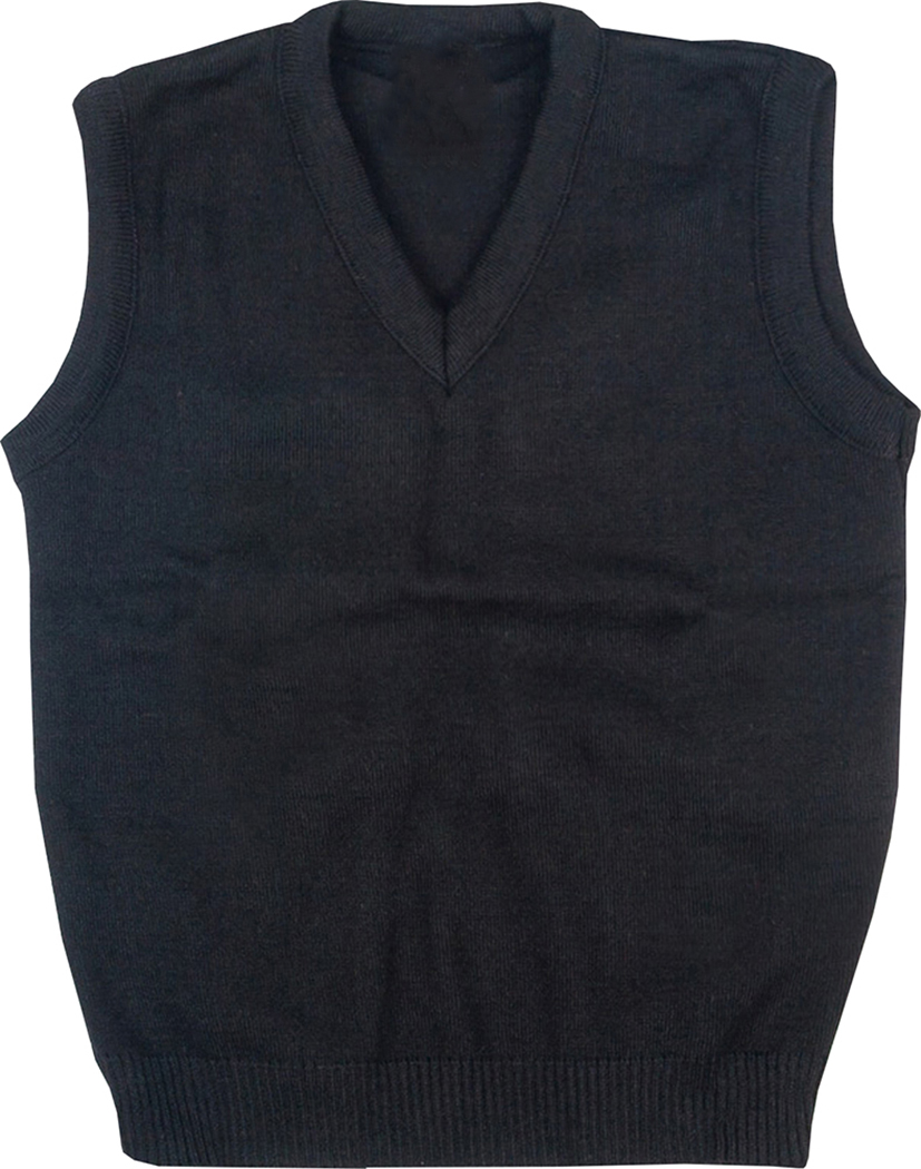 Mens Kids Plain V Neck Sleeveless Sweater Jumper Tank Top Jersey ...