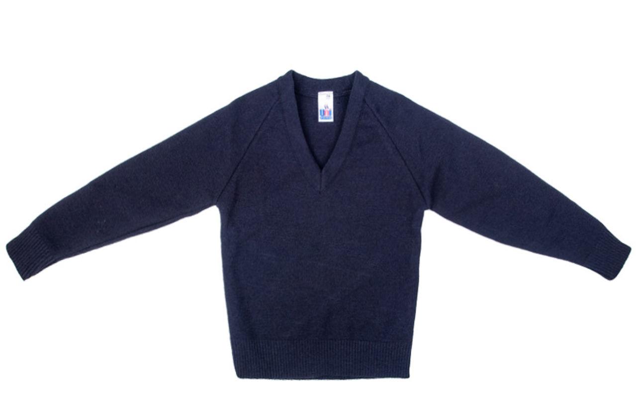 New School Uniform Knitted V Neck Plain Jumper Sweatshirt Pack of ...