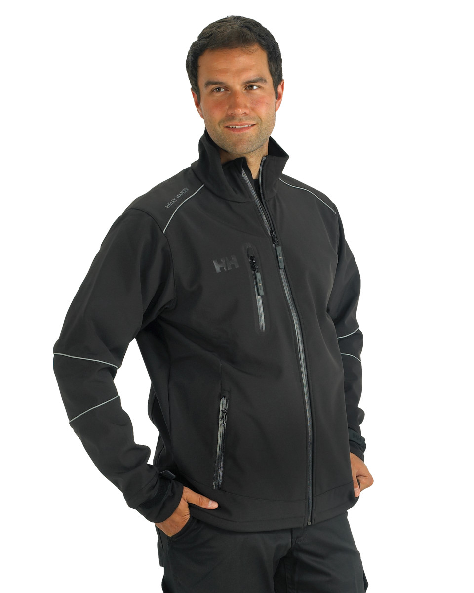 helly hansen 74008 mens workwear barcelona softshell fleece jacket size s 2xl ebay. Black Bedroom Furniture Sets. Home Design Ideas