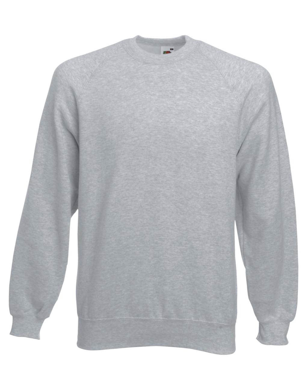 Fruit Of The Loom Men Classic Raglan Sleeve Sweatshirt Plain Work ...