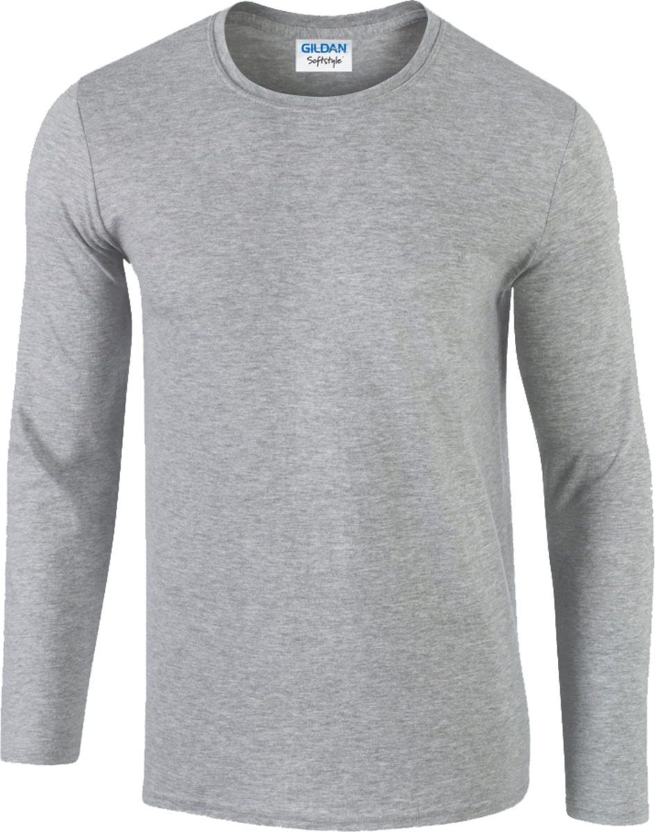 a8914259441 Gildan Softstyle Men s Long Sleeve T-Shirt 100% Cotton Plain Casual ...