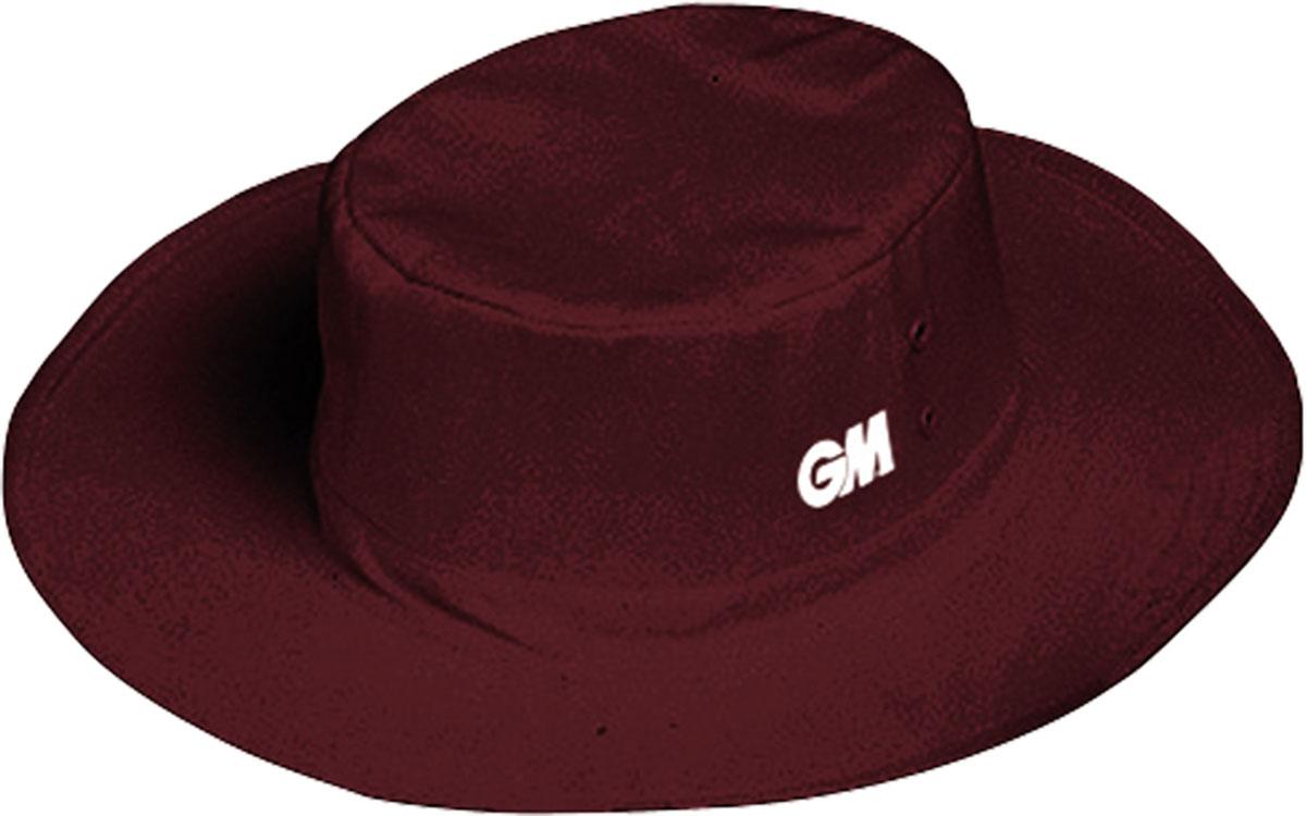 Gunn /& Moore GM Cricket Panama Hat Reinforced Wide Brim Full Lined Maroon
