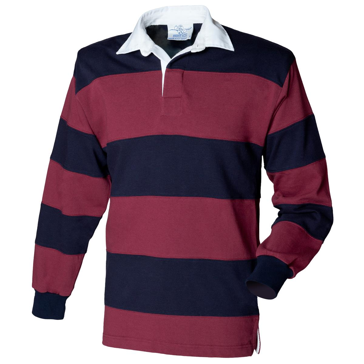 6626bb8c Men Sewn Stripe Long Sleeve Rugby Shirt Traditional Collar Casual ...