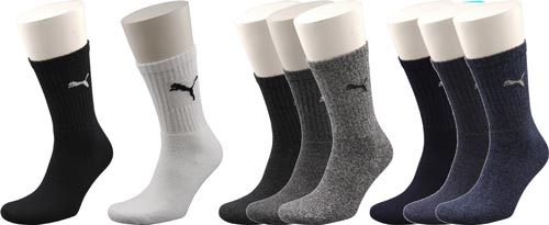 1669b7bc4 PUMA Sports Sock Ankle High Crew Style Cotton Mix Socks Pair Grey 6 ...