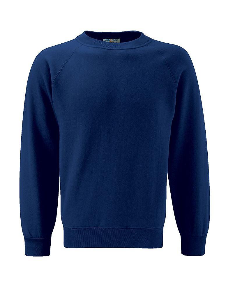 cd70c920c166fa New Blue Max Select Raglan Kids Ribbed Cuff Sweatshirts School Wear ...