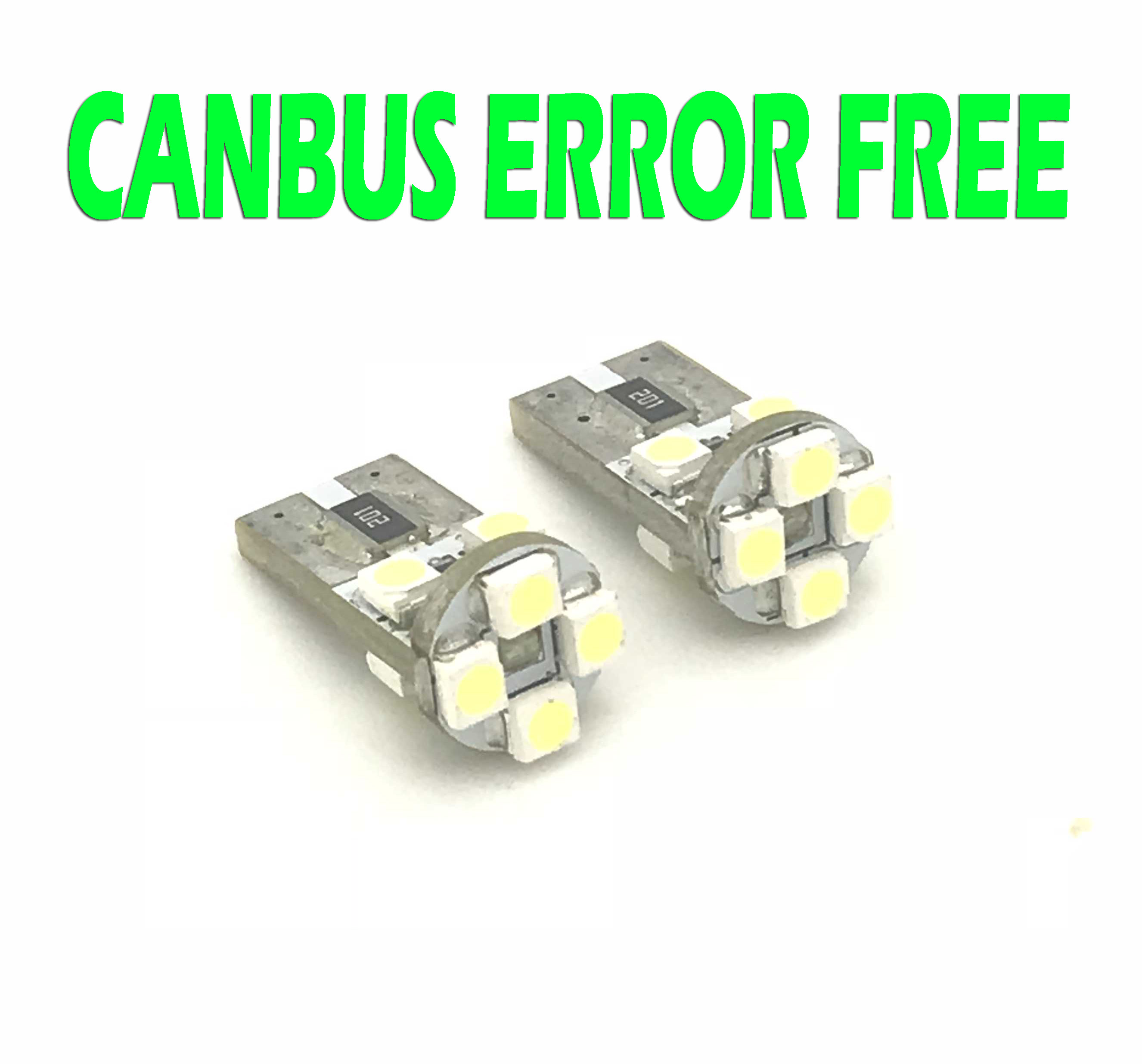 9W LED Canbus Error Free 501 Sidelight Parking Bulbs Lamp Xenon White For Ford
