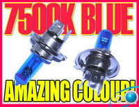 View Item PAIR 12v 55w H4 7500K XENON HEADLIGHT BULBS