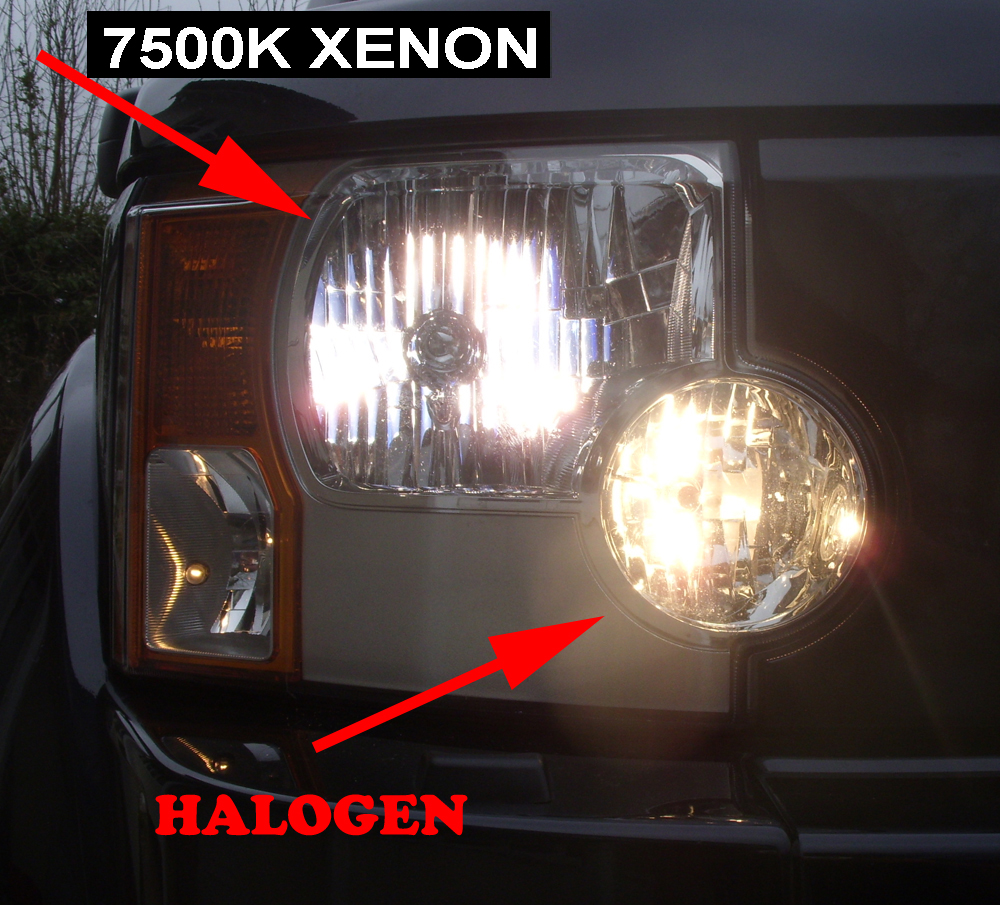 Headlamps H7 halogen and xenon 68