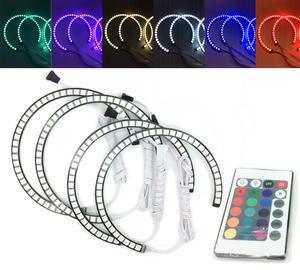 4x RGB LED Angel Eye Halo Rings Light Lamp remote control For BMW E36 1990-2000 Preview