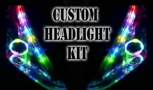 Custom bluetooth LED RGB Headlight Halo Angel eye DRL retrofit showcar Preview