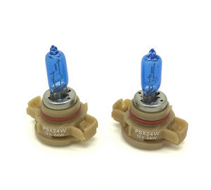 Pair H16 Ps19W 5000K Xenon White Bulbs Lamp DRL Fog 9009 Psx24W AUDI A3 09- Preview