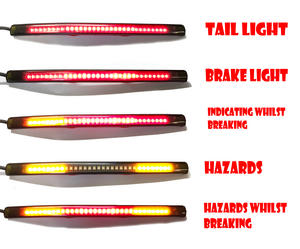 Quad Motorbike Motorcyle LED tail brake indicator strip light flexible Preview