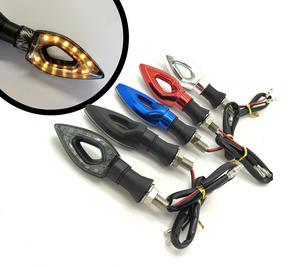 Motorbike Motorcyle coloured LED indicators front rear back small amber blinkers Preview