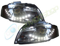 View Item Eagle Eyes Rhd Projector Headlights LED DRL Chrome For Audi A3 03-08 8P