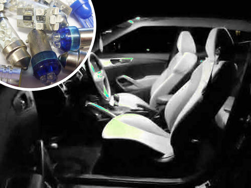 Vauxhall Astra Mk 5 Interior Lights Package Kit white red blue pink 11 LED