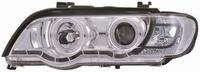 View Item Projector Headlights Lamps LHD Chrome Angel Eyes Pair For BMW X5 E53/00-03