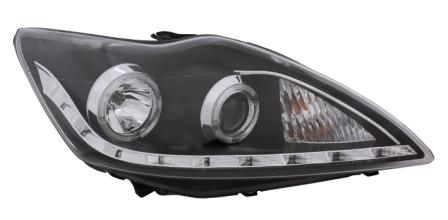 Projector Headlights Lhd Starline Angel Eyes Black For Ford Focus Mk Preview