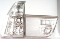 View Item Back Rear Tail Lights For BMW E53 X5 00-06 Clear Crystal-Look Pair - No