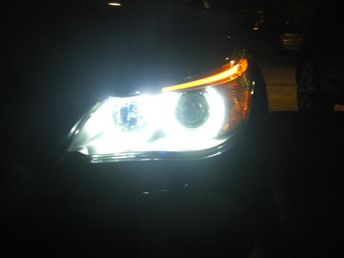 BMW 5 Series Halogen Headlights E60 E61 Lci 20W Cree LED Angel Eye