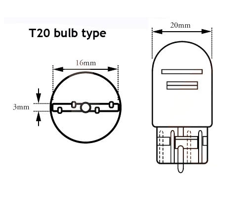 pair 580 7443 21  5w 12 led light bulbs stop    tail
