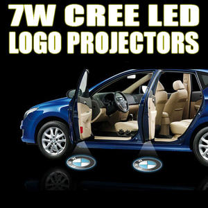 12V Car Logo Cree LED Ghost Shadow Door Light Lighting Lamp Laser Kit Pair Preview