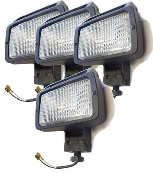 4 X 12V 15cm Rectangle Spot Flood Work Lights 4X4 Roof Bull Bar Lighting Lamp Preview