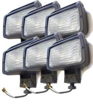 6 X 12V 15cm Rectangle Spot Flood Work Lights 4X4 Roof Bull Bar Lighting Lamp Preview