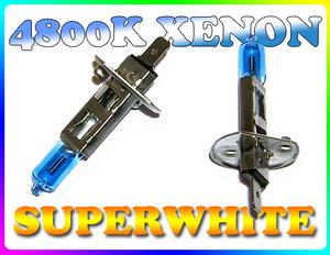 PAIR 55W H1 SUPERWHITE 4800K XENON HEADLIGHT BULBS Preview